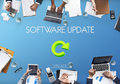Software Update Website Webpage Networking Concept Royalty Free Stock Photo