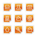 Software web icons Royalty Free Stock Images