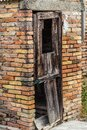 Soggy wooden door Royalty Free Stock Photo