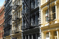 Soho cast iron architecture. New York Royalty Free Stock Photo