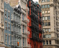 Soho New York. Typical architecture Royalty Free Stock Photo