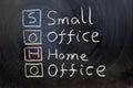 SOHO, small office home office Royalty Free Stock Photo