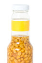 Soia salata bean in glasses bottle Fotografia Stock