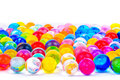 The soil of the colored balls Royalty Free Stock Images