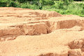 Soil erosion due to water Stock Images