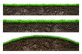 Soil and green grass Royalty Free Stock Photo