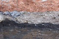 Soil layers in underground earth of science Royalty Free Stock Photo