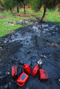 Soil pollution Royalty Free Stock Photo