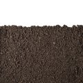 Soil section texture isolated on white Royalty Free Stock Photo