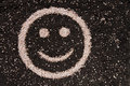 Soil smiley face concept arable land Stock Images