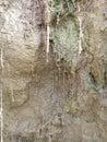 Erosion and Sedimentation Royalty Free Stock Photo
