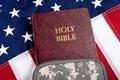 A Soilder Bible. Royalty Free Stock Photo