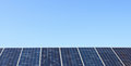 Solar big panels over blue sky Royalty Free Stock Photo