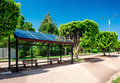 Solar bus stop eco friendly Royalty Free Stock Photo