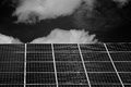 Solar cells on the roof of a house in nordhorn germany Royalty Free Stock Image