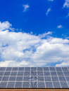 Solar cells on the roof a new Royalty Free Stock Photos