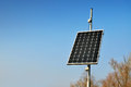 Solar collector panel on blue sky Royalty Free Stock Photos