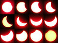 Solar eclipse collection oryginal photography Stock Photo