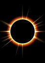 Solar eclipse cosmos background astronomy Stock Photo