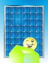 Solar electricity Stock Photo
