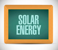 Solar energy board sign illustration design over a white background Stock Photos