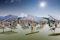 Solar energy in china ,jiangsu Royalty Free Stock Photo