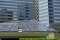 Solar energy in the city Royalty Free Stock Photo