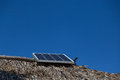 Solar energy in an ecologycal house Royalty Free Stock Photo