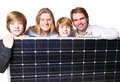 Solar energy makes happy Stock Photography