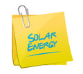 Solar energy memo post illustration design over a white background Stock Images