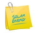 Solar energy memo post illustration design over a white background Stock Images