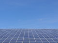 Solar energy panel on sky Royalty Free Stock Photos
