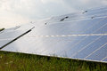 Solar energy panels for clean electricity production Royalty Free Stock Photo