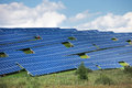 Solar energy panels in countryside Royalty Free Stock Photography