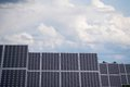 Solar energy plant collector sky big outside against Royalty Free Stock Photos