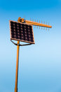 Solar energy powered radio transmitter Royalty Free Stock Photo