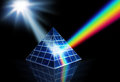 Solar energy renewable energy concept panel prism turning sunlight into spectrum Royalty Free Stock Photography