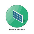 Solar energy renewable energy sources part isometric illustration of a panel works in small size Stock Image