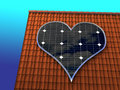 Solar Heart Royalty Free Stock Photo