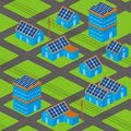 Solar houses pattern Royalty Free Stock Photography