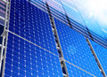 Solar industry Royalty Free Stock Image