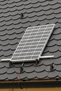 Solar instalation of panel at rooftop clean energy Royalty Free Stock Images