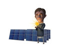 Solar Man Stock Images