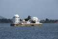 Solar observatory situated between a lake Royalty Free Stock Photo
