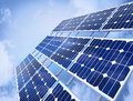 Solar Panel Against Blue Sky Royalty Free Stock Image