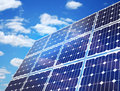 Solar Panel Against Blue Sky Royalty Free Stock Photos