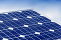 Solar panel an alternative energy source Stock Image