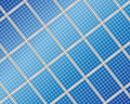 Solar panel background Stock Photo