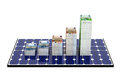 Solar panel bar graphs made from euro banknotes Stock Image