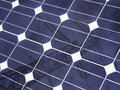 Solar panel detail of the fuel cells with pylon mirrored Royalty Free Stock Image